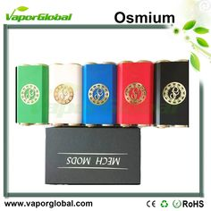 1.Force-fitted copper block inside the Delrin making it resistant to heat 2.510 threading connection (with adjustable silver plated copper center pin) 3.Silver plated copper battery contact 4.Full mechanical mod 5.Custom made brass switch 6.Houses dual 18650 batteries 7.Embedded brass plate with Paradigm logo  https://www.vaporglobal.com/wholesale/mod/osmium/osmium.html