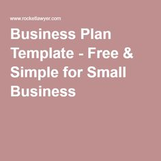 Create A Business Plan The US Small Business Administration - Sba gov business plan template
