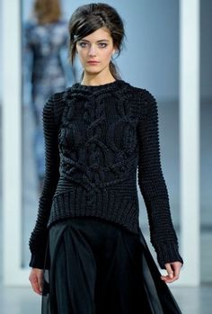 2012AW Derek Lam Corded Wool Cable Knit Sweater