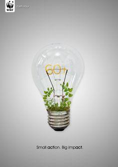 """""""Una pequeña acción, puede lograr grandes cosas""""  Hoy de 20:30 a 21:30 no olvides apagar la luz.  ¡Feliz de ser parte de la inspiración! #EarthHour #LaHoradelPlaneta"""