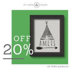 My Home and Yours special back to school offer. Get an amazing 20% off all Kids products! For Discount Code and details go to www.instagram.com/myhomeandyours_