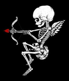 Design Tattoos, Tattoo Designs, Cupid Drawing, Cupid Tattoo, Skeleton Tattoos, Cute Tiny Tattoos, Dark Love, When You Love, Watch Faces