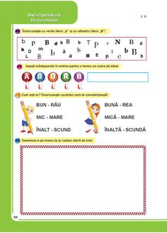 Comunicare in limba romana - Clasa Pregatitoare Transportation, School, Health, 1st Grades, Health Care, Salud