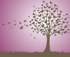 Graphic Art Trees | ... free, grass, landscape, nature, purple, silent, sunset, tree, vectors