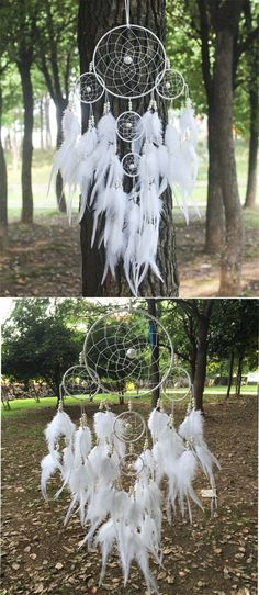 2015 New fashion originality big Hot white Dreamcatcher Wind Chimes Indian Style pearl Feather Pendant Dream Catcher Gift Nail Design, Nail Art, Nail Salon, Irvine, Newport Beach