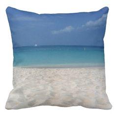 Seven Mile Beach Cayman Islands - Pillow Caribbean Sea, Cayman Islands, Decorative Throw Pillows, Beach, Decorative Pillows, The Beach