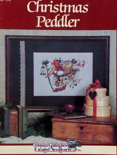 Hidden Kingdom CHRISTMAS PEDDLER By David Wenzel - Donna Gallagher Creative Needlearts - Counted Cross Stitch Pattern Chart