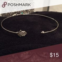 💕Hamsa Wire Bangle💕 💕This is delicate and so cute. It's been worn only a couple times. Selling earrings that match. If purchased as a bundle you can save money to wear as a set. Perfect gift for Valentines Day for a young girl💕 Jewelry Bracelets