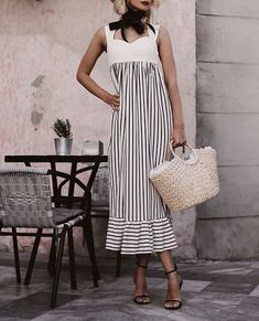 Swans Style is the top online fashion store for women. Shop sexy club dresses, jeans, shoes, bodysuits, skirts and more. Modest Dresses, Nice Dresses, Casual Dresses, Short Dresses, Casual Outfits, Summer Dresses, Mature Women Fashion, Mode Shoes, Western Outfits