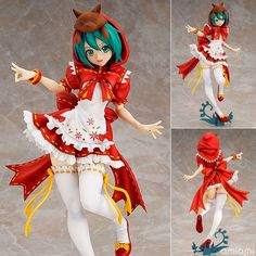 (28.85$)  Watch more here - http://airsg.worlditems.win/all/product.php?id=32422034397 - Anime Hatsune Miku Red Riding Hood Project DIVA 2nd PVC Action Figure Collectible Model Toy 25cm KT650