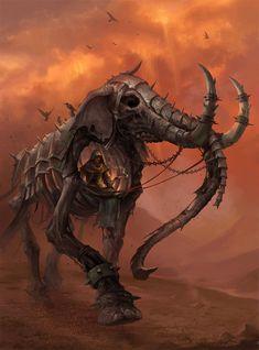 Re-animated Elephant mount by sandara