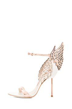 3e53de117 Sophia Webster Evangeline Leather Heels in Rose Gold Gold Strappy Sandals