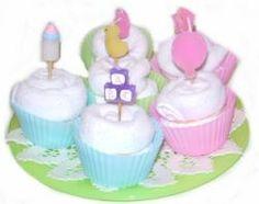 Baby Shower – Facewasher Cupcakes — craftbits.com