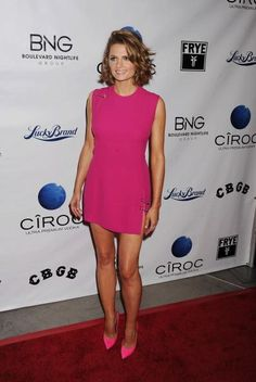 "HOLLYWOOD, CA - OCTOBER 01: Stana Katic attends the ""CBGB"" - Los Angeles special screening at ArcLight Hollywood on October 1, 2013 in Hollywood, California. (Photo by JB Lacroix/WireImage) 2013 JB Lacroix"