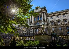 View of National Austrian Library from Burggarten in Vienna, Austria Stock Photo