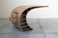 An original and dynamic desk by Dutch furniture designer Jan Willem van der Weij.