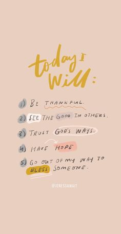 A good five-step reminder when you're having a tough day! quotes quotes about love quotes for teens quotes god quotes motivation The Words, Cool Words, Hope Quotes, Faith Quotes, Today Quotes, Everyday Quotes, Inspirational Quotes For Today, Be Good Quotes, Inspirational Phrases