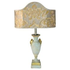Check out this item at One Kings Lane! Borghese Lamp w/ Fortuny & Silk Shade