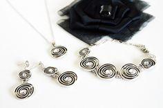 jewelry set art deco clear crystal rhinestone necklace dangle earrings post bracelet wedding bridal jewelry bridesmaids jewelry set gift by sestras on Etsy https://www.etsy.com/listing/107038676/jewelry-set-art-deco-clear-crystal