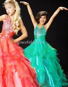 Custom pageant dresses for kids dresses for weddings kids evening gowns flower girl dress 2012