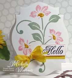 Stop and Stamp the roses - lovely shaped card.  I really like the stamp set she used
