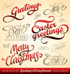 Vector: seasonal  holiday greetings, hand lettering (vector) #download #stock #StockImages #microstock #royaltyfree #vectors #calligraphy #HandLettering #lettering #design #letterstock #silhouette #decor #printable #printables #craft #diy #card #cards #label #tag #sign #vintage #typography