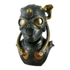 """8 1/2"""" x 5 1/4"""" gas mask"""