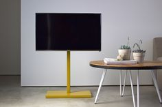 QUARTER design studio + EngineHouse | TV Stand – freestanding steel tv pedestal