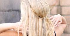top shop inspired chain headband DIY on love maegan Step By Step Hairstyles, Pretty Hairstyles, Cute Hairstyles, Style Hairstyle, Bridal Hairstyles, Hairstyle Ideas, Chain Headband, Diy Headband, Flower Headbands