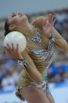 Maragrita Mamun (RUS) competes with ball during the 2013 Universiade in Kazan, Russia. Via RIA Novosti