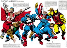 Captain America's partners by John Buscema and Al Milgrom