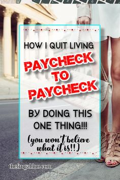 Are you tired of living paycheck to paycheck? Are you ready to take charge of your money? You won't believe what I do everyday to save more money! #savemoney Best Money Saving Tips, Ways To Save Money, Saving Money, Money Tips, Money Now, Money Today, Cash Money, I Quit, Budgeting Money