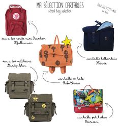Cartables Garcon by Les Enfants a Paris !