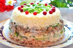 Chicken salad with eggs and mushrooms — Cooking Recipes Ukrainian Recipes, Russian Recipes, Eggs And Mushrooms, Stuffed Mushrooms, Marinated Mushrooms, Top Salad Recipe, Chicken Egg Salad, Food Network Recipes, Cooking Recipes