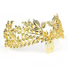 Hair Accessories | VITORIAS GIFT Baroco Princess Crown Hair Comb with Leaf Shape for Wedding Party * Click image for more details. (This is an affiliate link and I receive a commission for the sales) #HairAccessories