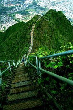Haiku Merdivenleri - Oahu, Hawaii