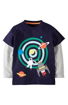 Mini Boden Layered Long Sleeve T-Shirt (Toddler Boys, Little Boys & Big Boys) available at #Nordstrom