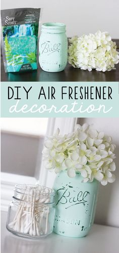 Are you in search of some awesome mason jar crafts? This list has 25 incredible craft projects from bathroom accessories to garden solar lights, that you can DIY easily using Mason Jars or jars from your recycling box! So for a huge list of easy diy craft Diy Décoration, Easy Diy Crafts, Sell Diy, Fun Diy, Fun Crafts, Easy Home Decor, Cheap Home Decor, Diy Home Decor On A Budget, Home Decor Accessories