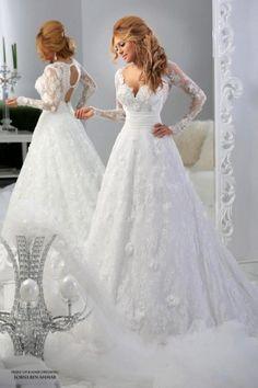 Couture Long Sleeve Wedding Dresses For 2015 Arabic Muslim Brides White Vintage Lace A Line Vestidos De Novia Lace Bridal Gowns