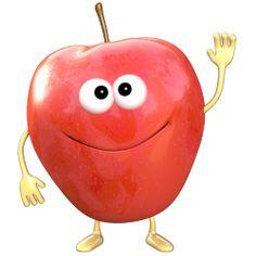 Sticker Fruigolo pomme rouge