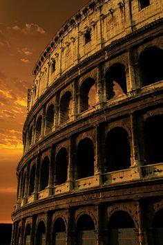 The Coliseum in Rome at sunset; how amazing this has remained upright for all these centuries!