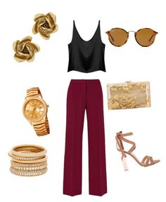 """""""Glam 11"""" by glowgetter on Polyvore featuring Gianvito Rossi, Charlotte Olympia, Ray-Ban, Oscar de la Renta, Akribos XXIV and Henri Bendel"""