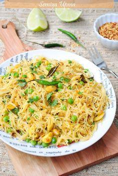 US Masala: Semiya Pulao/Indian Style Stir Fried Noodles Indian Breakfast, Breakfast For Dinner, Breakfast Recipes, Indian Food Recipes, Vegetarian Recipes, Ethnic Recipes, Comida India, India Food, Pizza