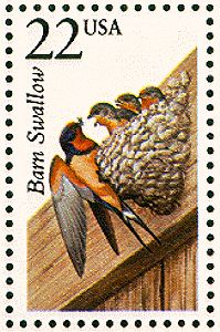 US Stamp Gallery >> Barn swallow