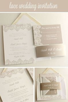 Clear acrylic die cut wedding invitations for elegant wedding favors customizable lace wedding invitation suite blush paperie stopboris Gallery