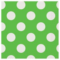 Amazon.com: Beverage Napkins 16/Pkg-Lime Green Decorative Dots: Arts, Crafts & Sewing