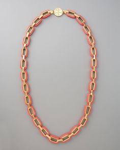 "Heidi Long Link-Chain Necklace, 42"" by Tory Burch at Bergdorf Goodman."