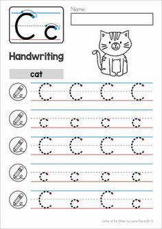 letters handwriting practice
