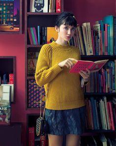 Japanese/American model Saya Ichikawa reads.