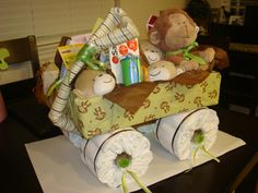 Diaper Wagon made for my Sister's baby shower!